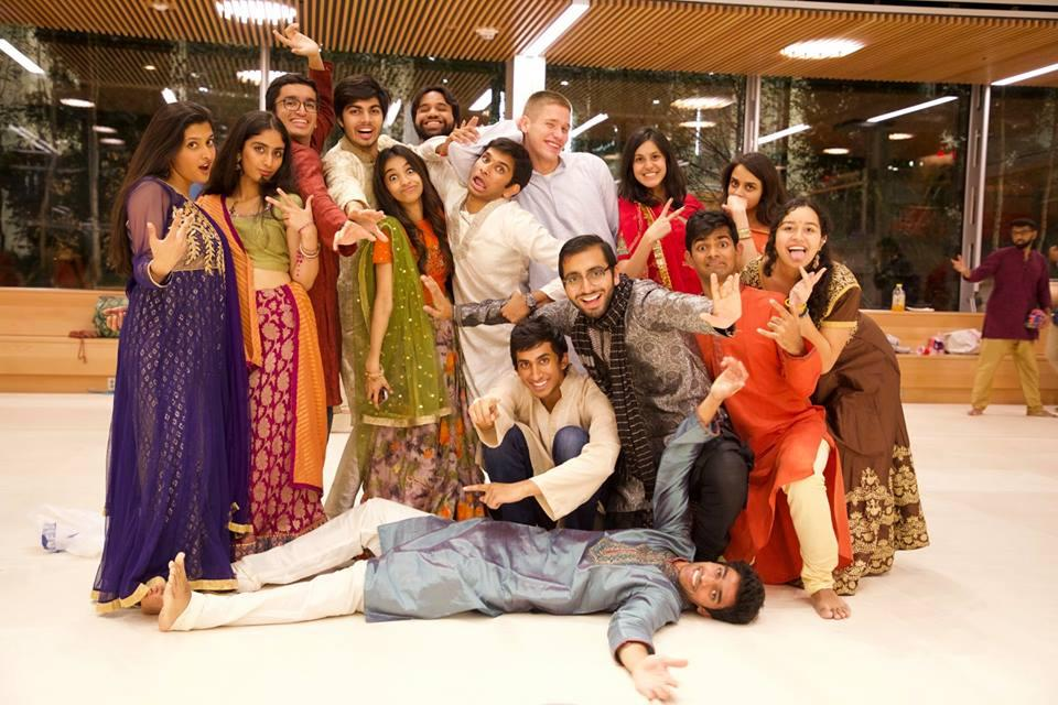 a group of students from Harvard's Dharma group