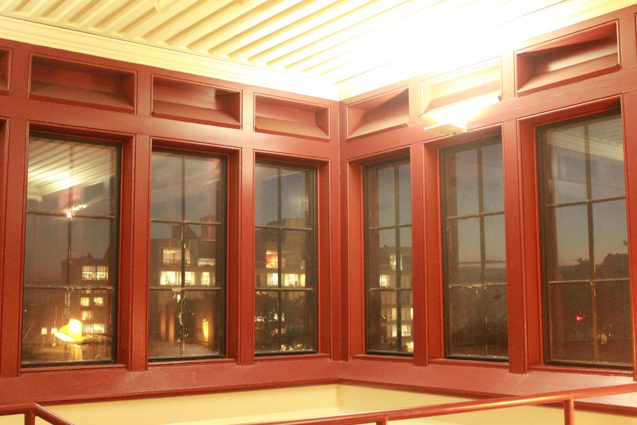 windows with city view at night