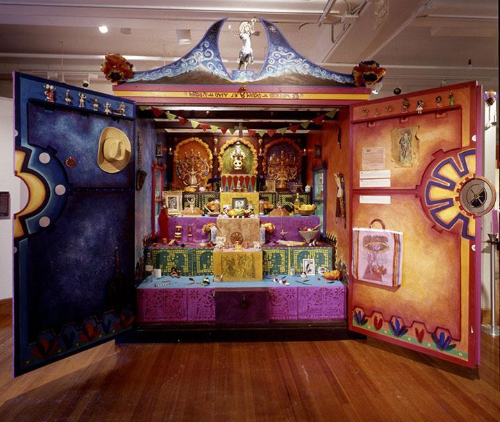 The Dia de Muertos altar at the Peabody Museum at Harvard