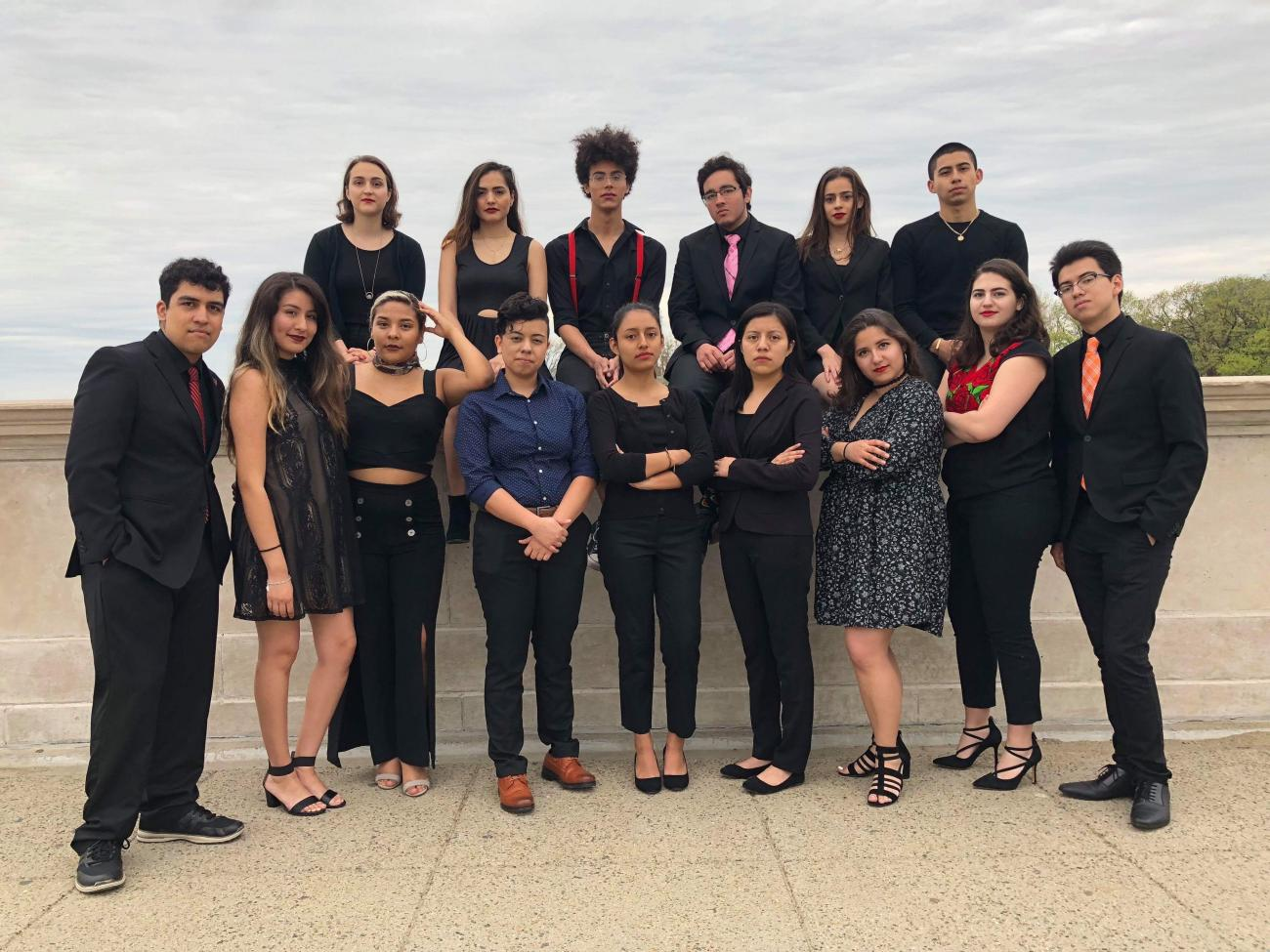 students from Act on a Dream group