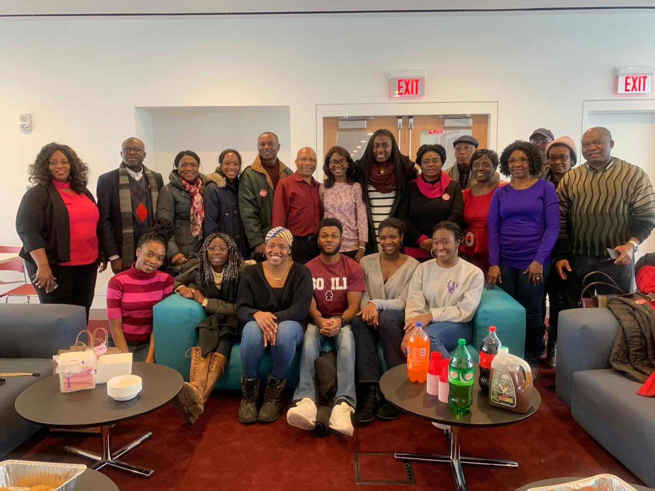 Students and their parents from Harvard's Nigerian Students Association