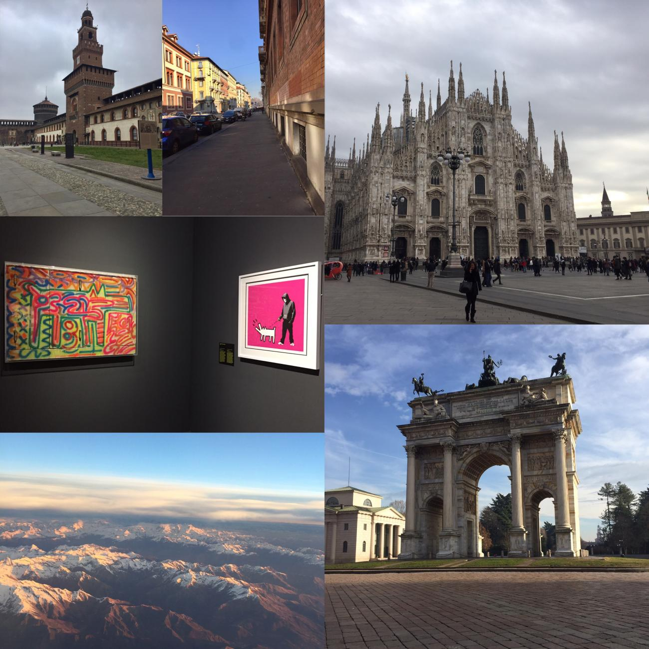 Collage of student memories from Milan