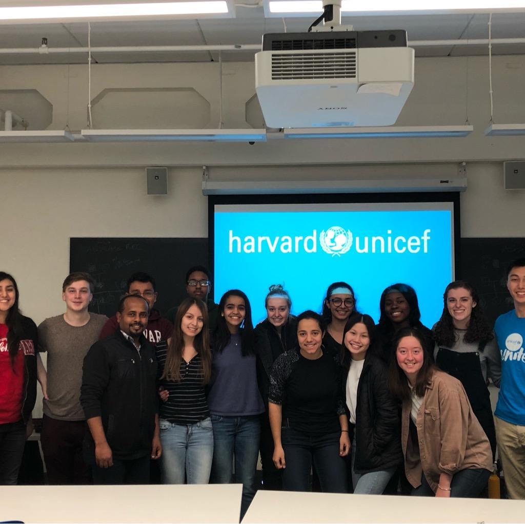 students from the Harvard Undergraduate UNICEF Club