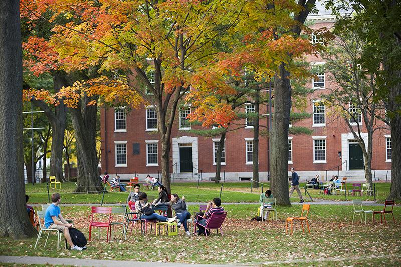 Harvard Yard in the Fall