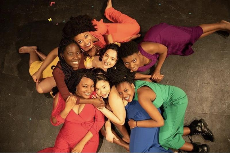 "a picture of me and the rest of the cast of the play ""for colored girls"""