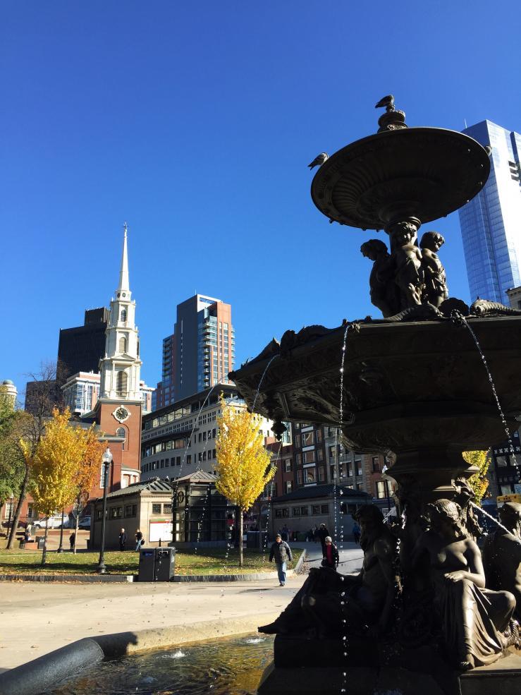 Fountain in Boston Common