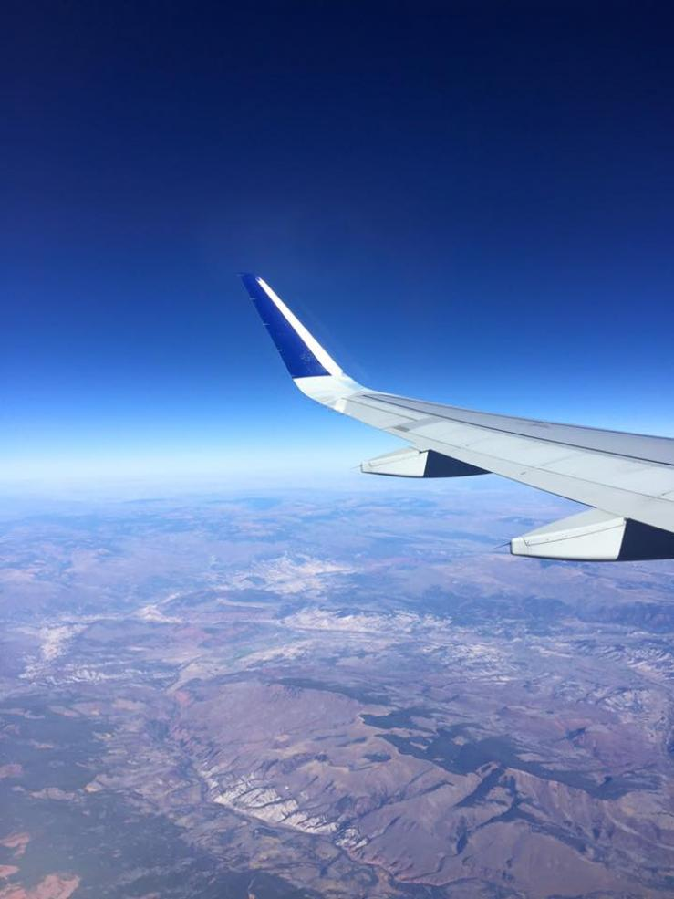 My view out the window as I flew to Europe for the first time