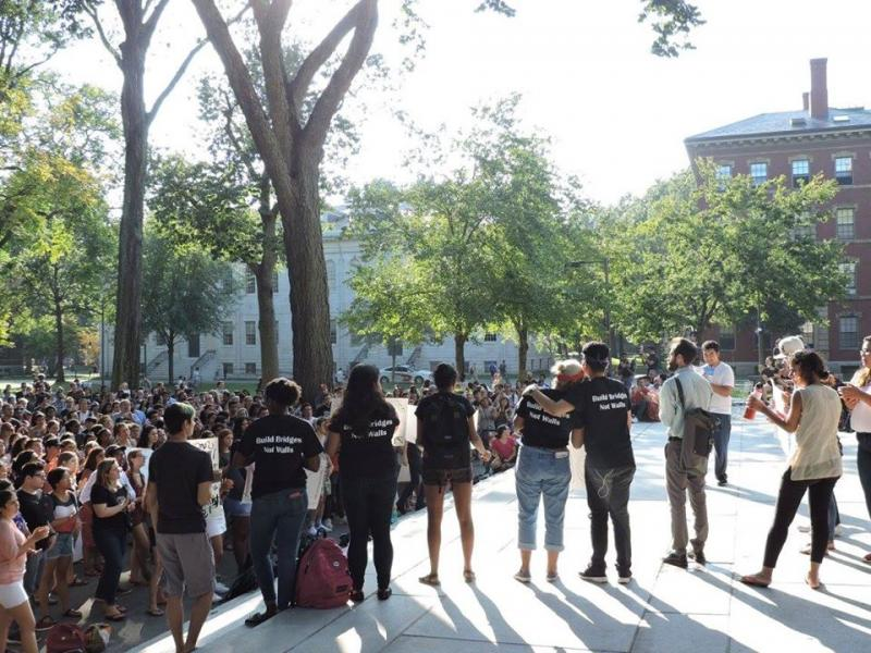 Students coming together after the repeal of DACA.