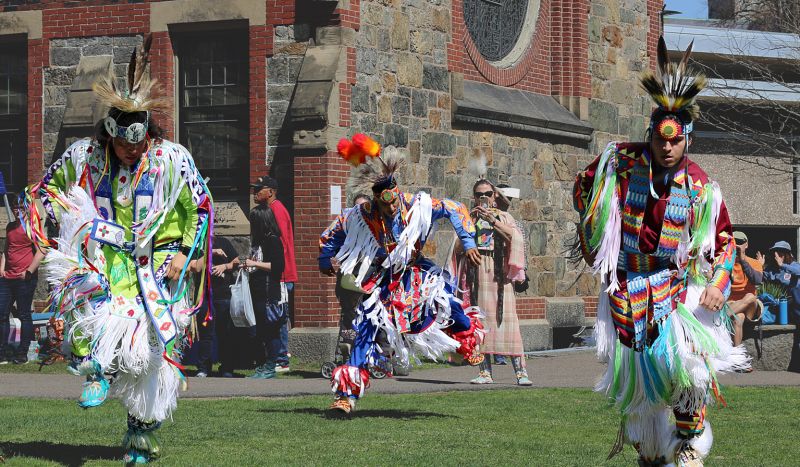 Dancers at last year's annual Harvard Powwow