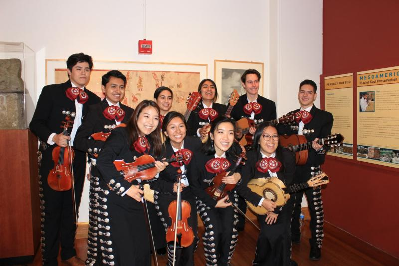 Mariachi group portrait at their performance