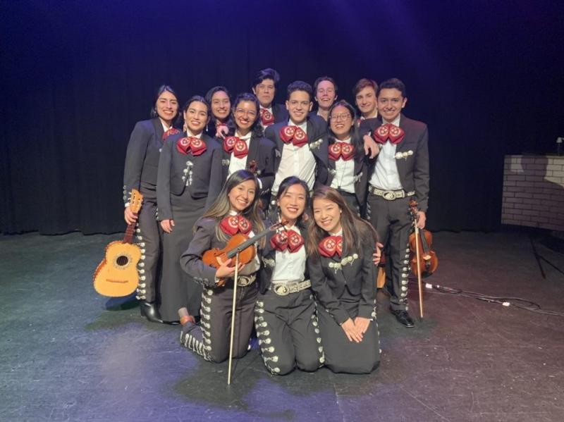 Mariachi group portrait after their fall concert