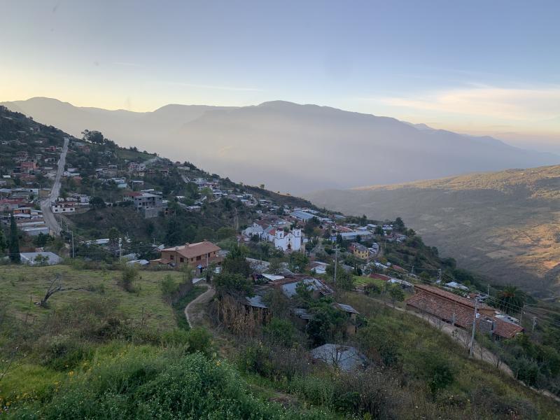 Little town on a mountain in Oaxaca