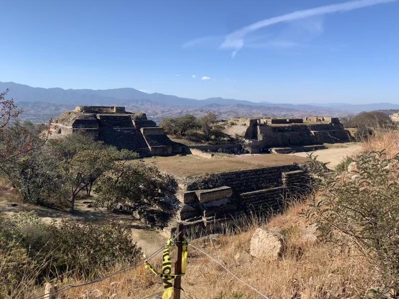 Reddish-brown historical site