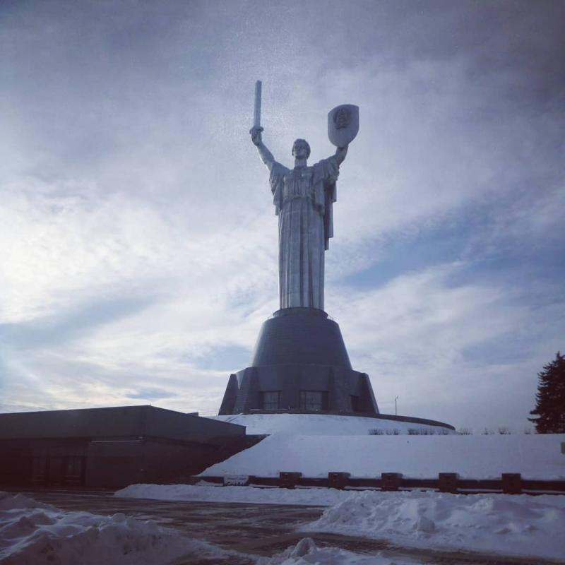 """Picture of the """"Motherland Monument"""" in Kyiv, Ukraine"""