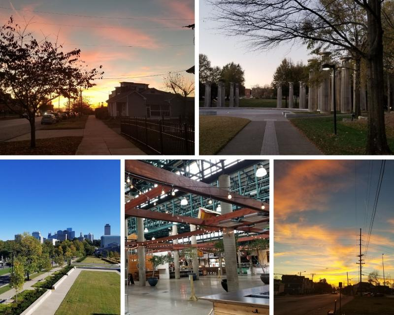 Images from my afternoon walks: sunsets, parks, farmers markets.