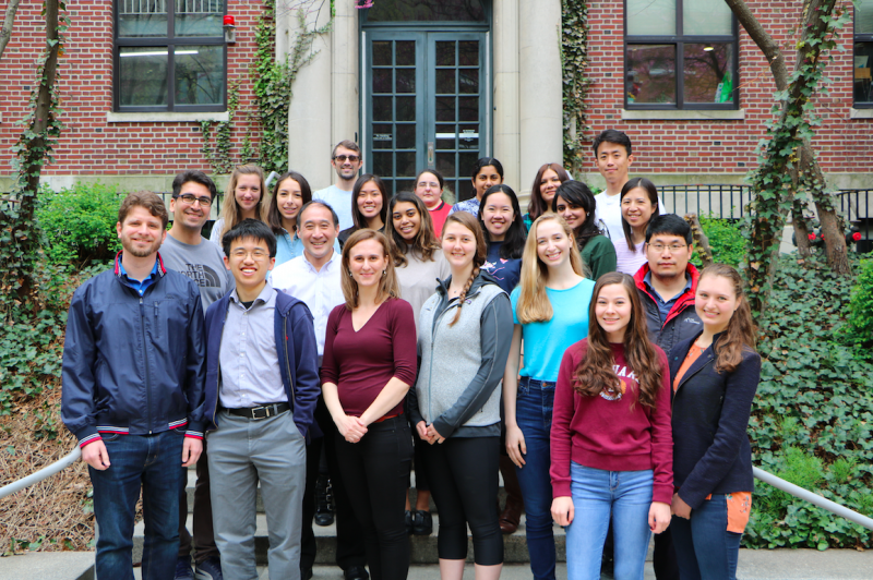 A group photo of members of the Lee Lab.