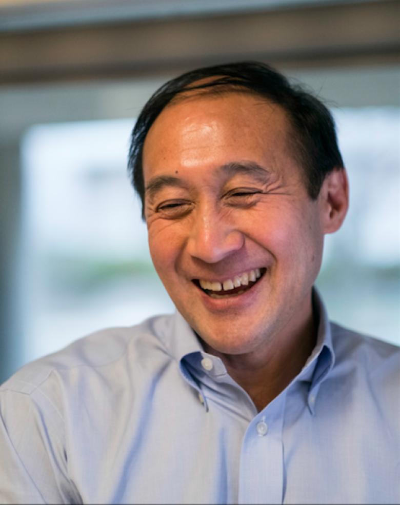 A candid portrait of professor Richard Lee.