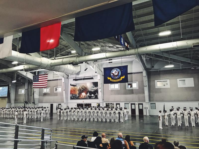 This is a photo of my Navy ROTC class from across the country graduating New Student Indoctrination
