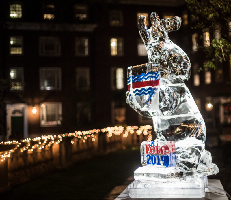 Eliot Fête Ice Sculpture 2019