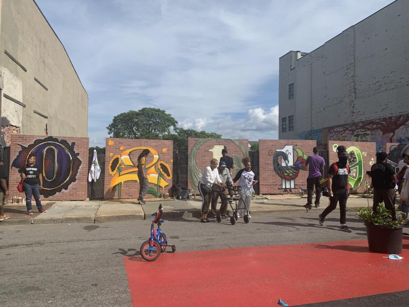 here is a mural of the Nubian Square zip code.