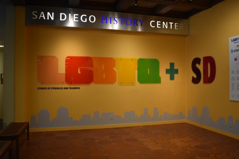 a LGBTQ+ museum display