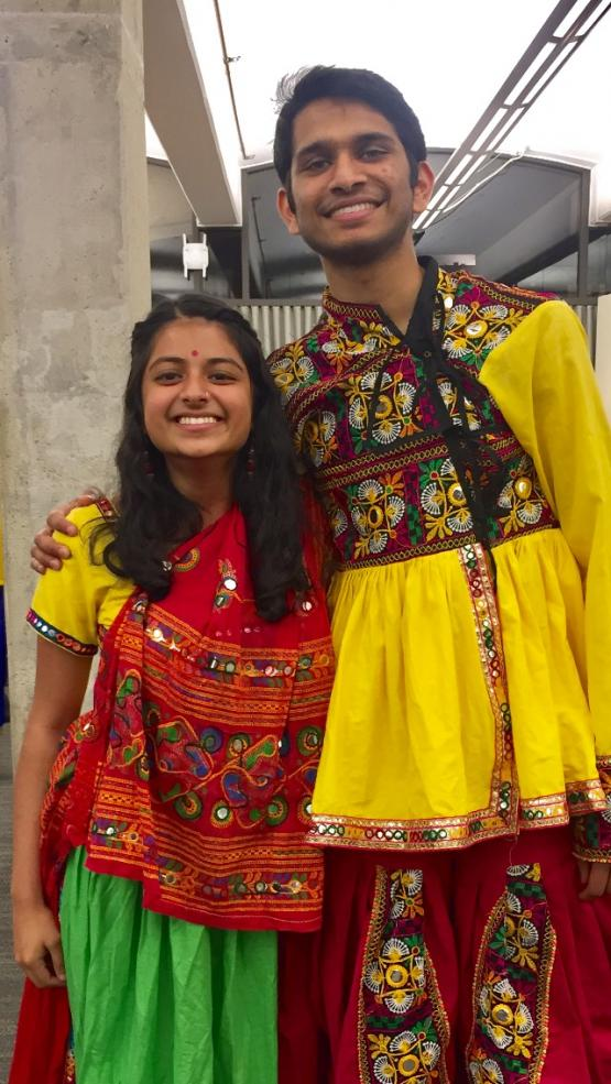 Author with raas dance partner