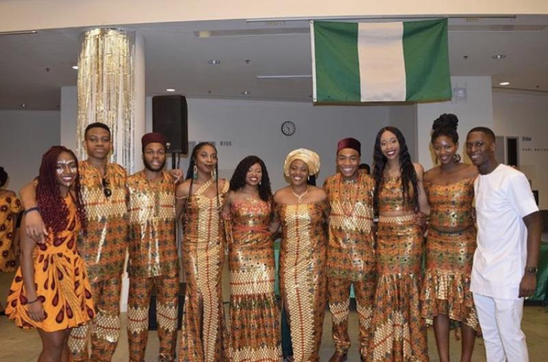 Students from Harvard's Nigerian Students Association Executive Board