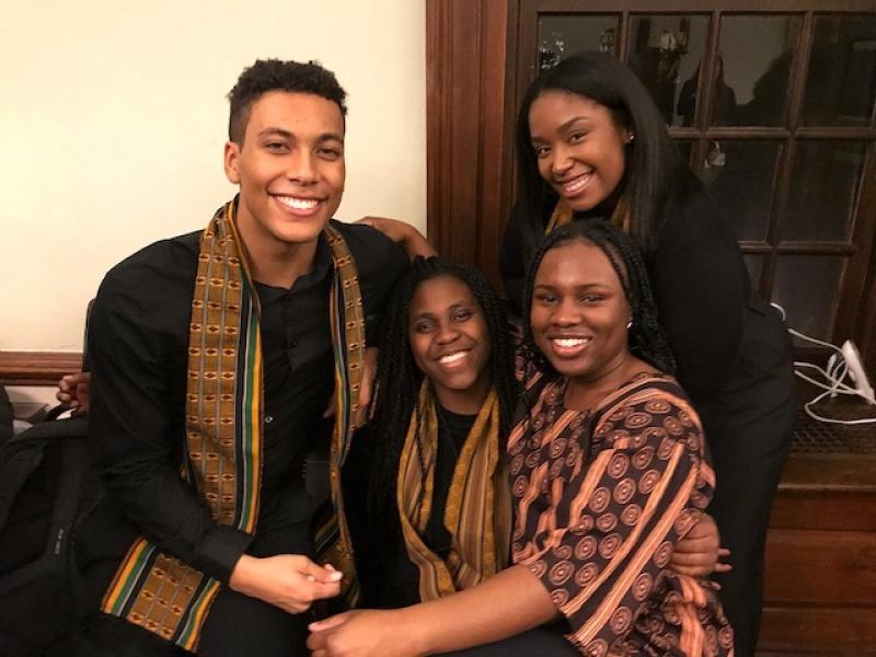 three Harvard student Kuumba members
