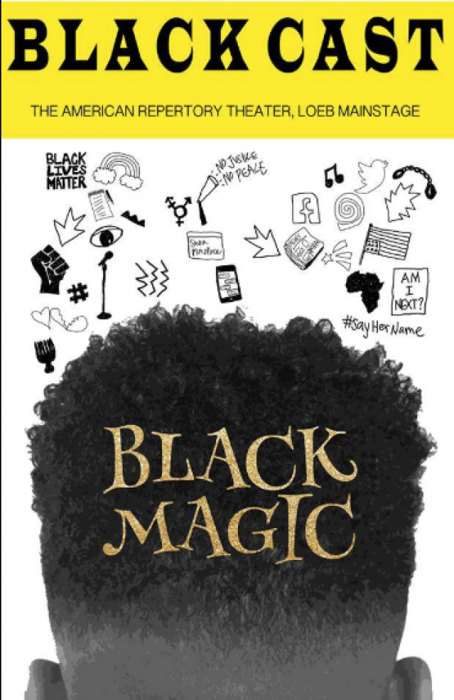 Cover of a playbill for 'Blackcast' play at Harvard