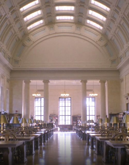 Interior of Widener Library