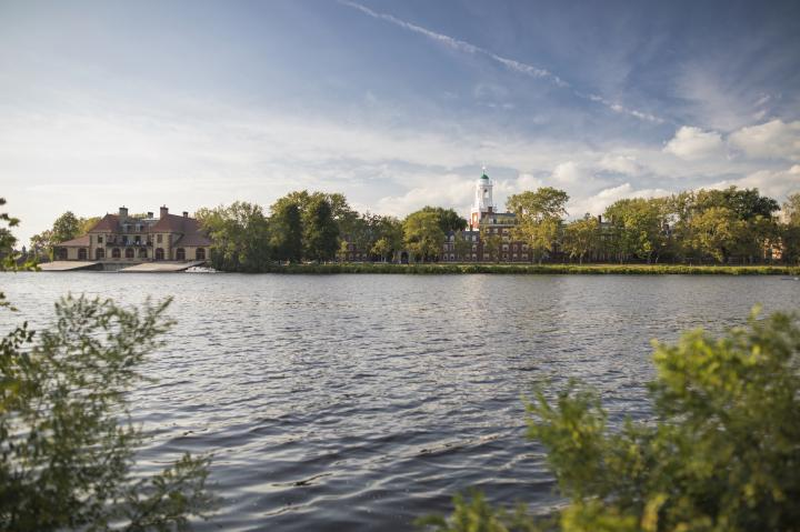 View across the Charles River towards Harvard's campus