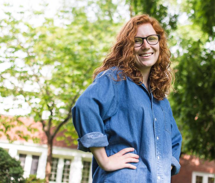 Portrait of Alli Scharmann, student