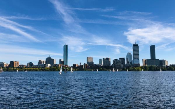 Boston skyline over Charles River