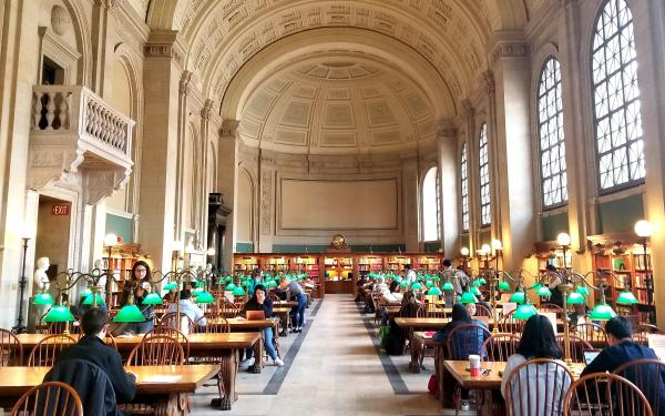 Interior of the Boston Public Library