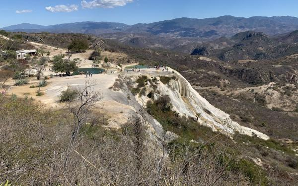 Cliff in a mountainous landscape