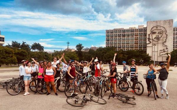 My study abroad group and I after a a bike tour of Havana.