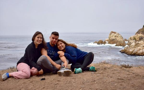 Student and her siblings in San Francisco